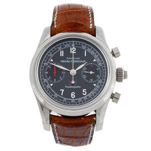 GIRARD-PERREGAUX - a gentleman's 18ct white gold Scuderia Ferrari wrist replica watch.