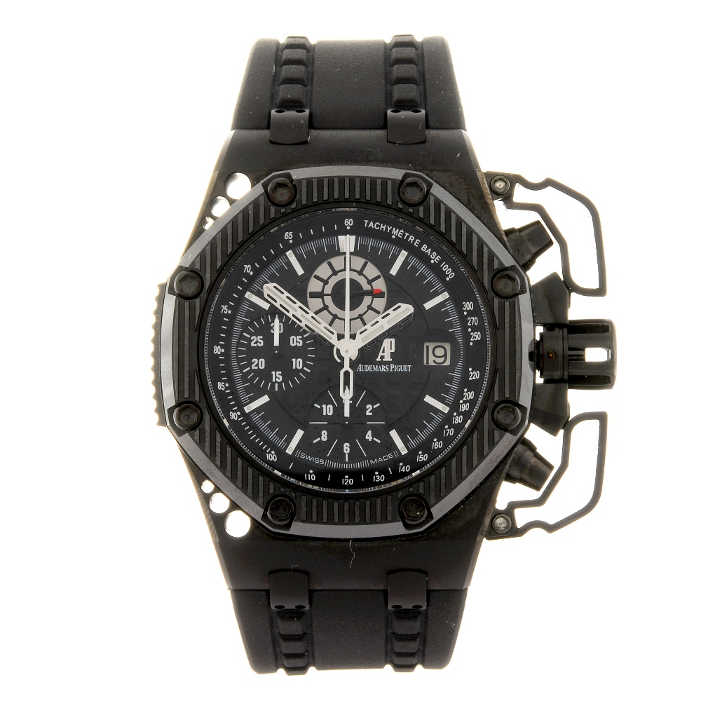 Lot 3 in Fellows auction of Vintage & Modern Wrist Replica Watches - a gentleman's Royal Oak Offshore Survivor chronograph wrist replica watch by Audemars Piguet (estimate £16,000 - £20,000)