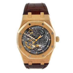 AUDEMARS PIGUET - a gentleman's 18ct yellow gold Jules Audemars wrist replica watch