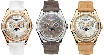 Impressive Fake Patek Philippe Ladies' Moon Phases Complications Watches 4948