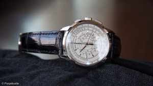 Up Close With The Typical Patek Philippe World Time White Gold Replica Watch Ref.5975