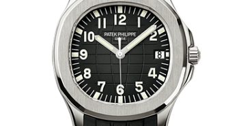 Extra Large Stainless Steel Patek Philippe Aquanaut Black Rubber Fake Watch Ref.5167A-001