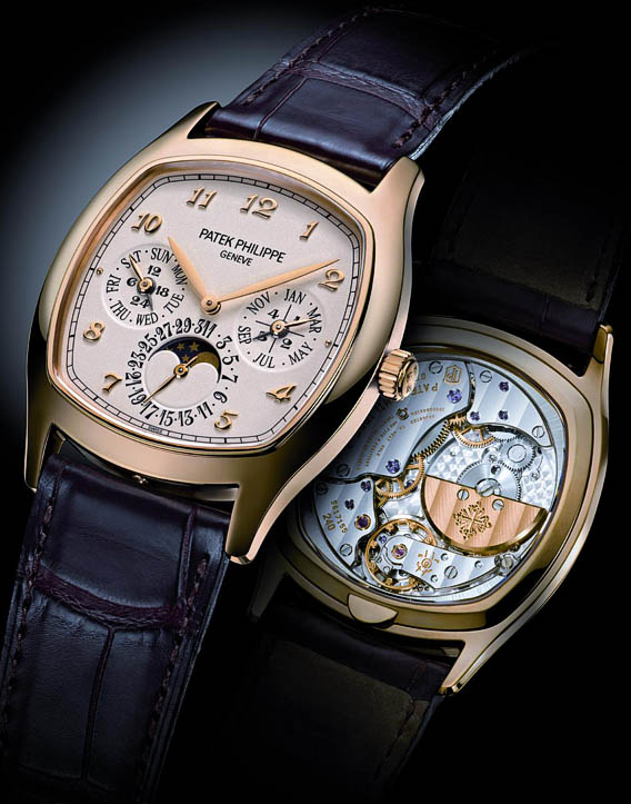 powerful replica patek philippe grand complications perpetual calendar moon phase watch. Black Bedroom Furniture Sets. Home Design Ideas