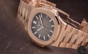 Choose The Classic Rose Gold Patek Philippe Nautilus 5711/1R-001 Replica Watch for Men