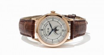 View of The Popular Rose Gold Patek Phlippe Annual Calendar Replica Watch Ref.5296