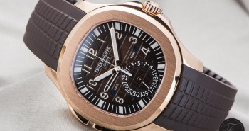 Presenting The Rose Gold Patek Philippe Aquanaut Travel Time 5164R Watch Replica