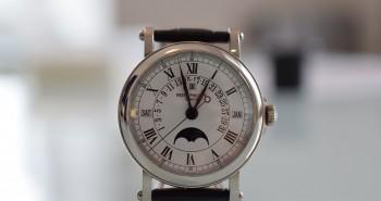 The White Gold Patek Philippe Ref.5059 Perpetual Calendar Retrograde Date Replica Watch