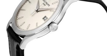 Patek Philippe Calatrava Opaline White Dial 18kt White Gold Men's Watch Item No. 5296G-010