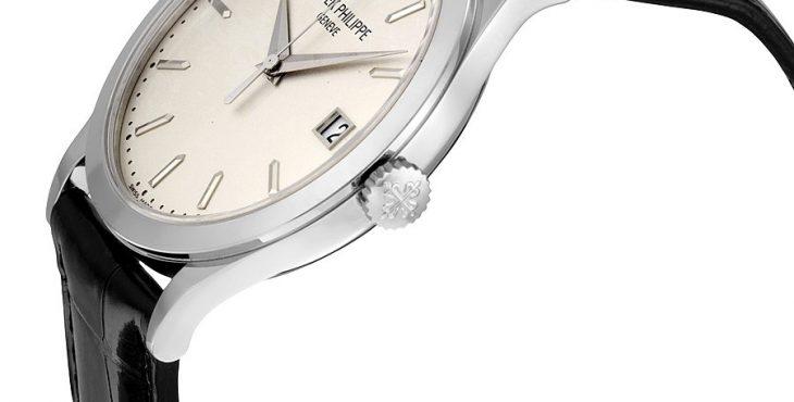 Patek Philippe Calatrava Opaline White Dial 18kt White Gold Men's Watch 5296G-010