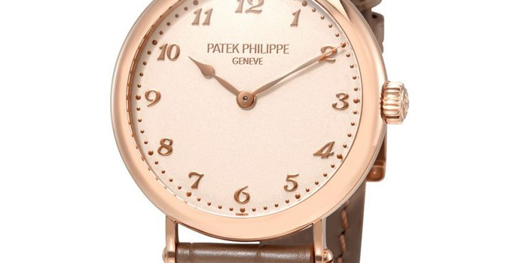 Patek Philippe Cream Dial 18kt Rose Gold Automatic Ladies Watch 7200R-001