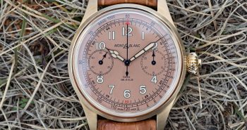 Hands-On with the Montblanc 1858 Chronograph Tachymeter Bronze with Salmon Dial Replica Watches Online Safe
