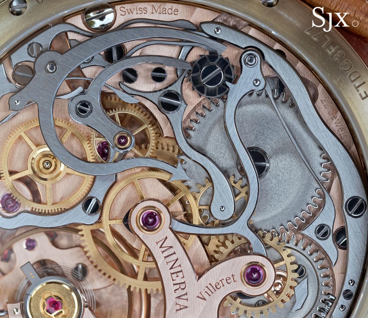 Montblanc 1858 Chronograph Tachymeter Salmon Bronze 5