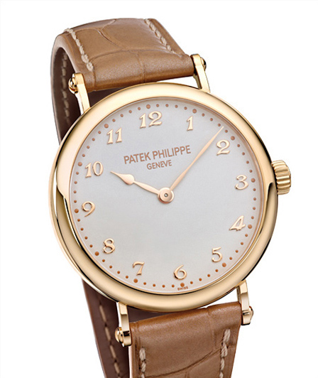 Presenting The Ultra Thin Rose Gold Patek Philippe Calatrava Leather Strap Copy Watch for Ladies Ref. 7200