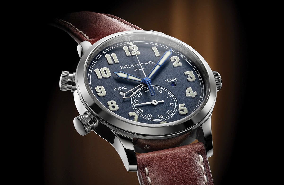 You Will Love This Very Cool Patek Philippe Calatrava Pilot Travel Time Blue Dial Replica Watch Ref. 5524