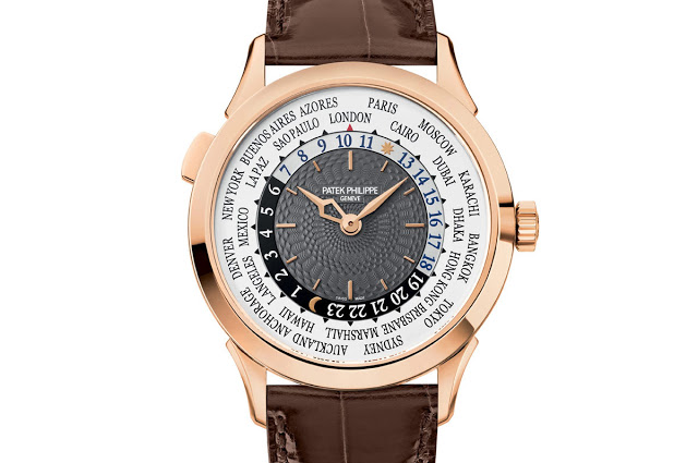Rose Gold Patek Philippe Complications World Time Ref.5230 Mens Watch Replica