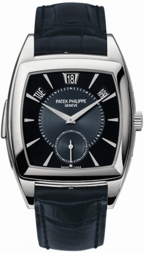 Tonneau-shaped Platinum Patek Philippe Gondolo Minute Repeater Replica Watch Ref. 5033P