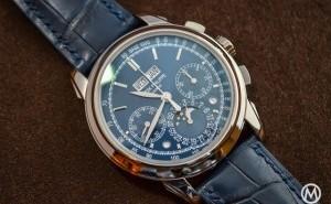 Patek Philippe Grand Complications Perpetual Calendar Blue Dial Replica Watch Ref.5270G-019