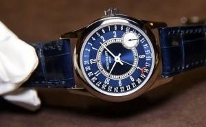 Patek Philippe Calatrava Blue Dial Date by hand Automatic Replica Watch Ref.6000G-012