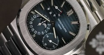 Perfect Patek Philippe Nautilus Moon Phases Power Reserve Blue Dial Copy Watch 5712/1A-001