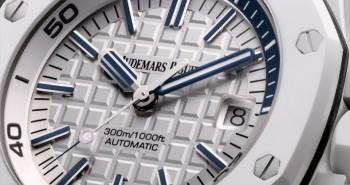 A Model Positively Glowing White Ceramic Audemars Piguet  Royal Oak Offshore Diver Watch