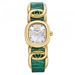 Ladies' Yellow Gold Patek Philippe Golden Ellipse Fake Watch