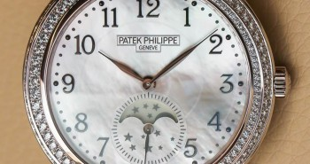 Beautiful Patek Philippe Complications Diamond Ribbon Joaillerie Moon Phase Fake Watch For Ladies Ref.4968R-001