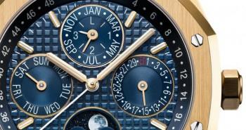 SIHH 2016 Yellow Gold Audemars Piguet Royal Oak Perpetual Calendar Blue Dial Replica Watch