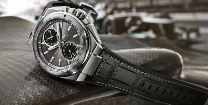 Promotion: The Casual Cheap IWC Ingenieur Racer Automatic Chronograph Leather Strap Watch