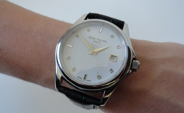 White Gold Patek Philippe Calatrava Date Watch Replica