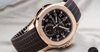 Introducing The Best Fake Rose Gold Patek Philippe Aquanaut Travel Time Brown Dial Watch Ref.5164R-001