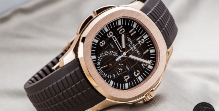 Patek Philippe Aquanaut Travel Time Brown Dial Watch Ref.5164R-001