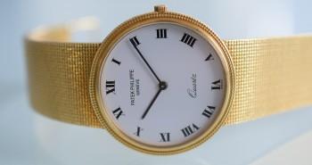 Meet The Pretty Yellow Gold Case Patek Philippe Calatrava Quartz Watch Replica