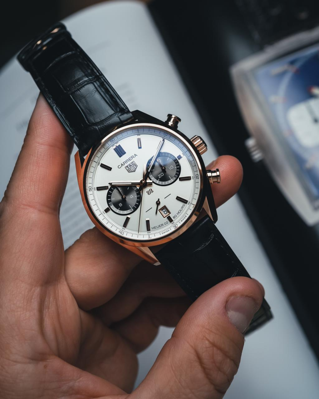 TAG Heuer Unveils Carrera replica Chronograph Jack Heuer Birthday Gold Limited Edition Watch Releases