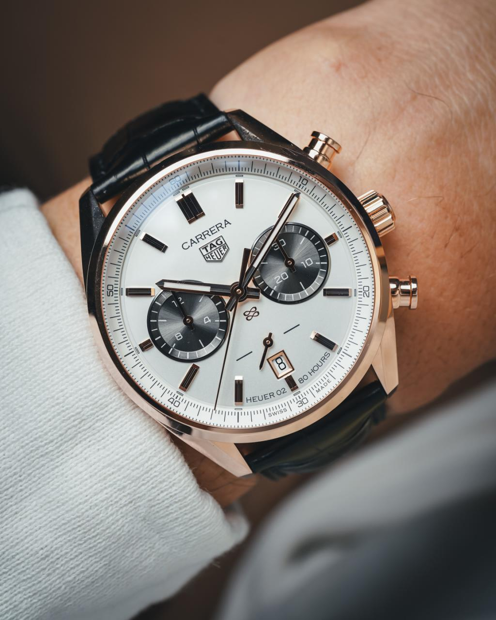 TAG Heuer Unveils Carrera fake Chronograph Jack Heuer Birthday Gold Limited Edition Watch Releases